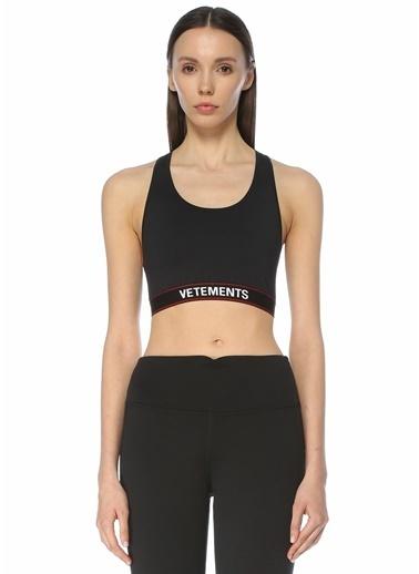 Vetements Vetements  Logo Bantlı Spor Sütyeni 101600742 Siyah